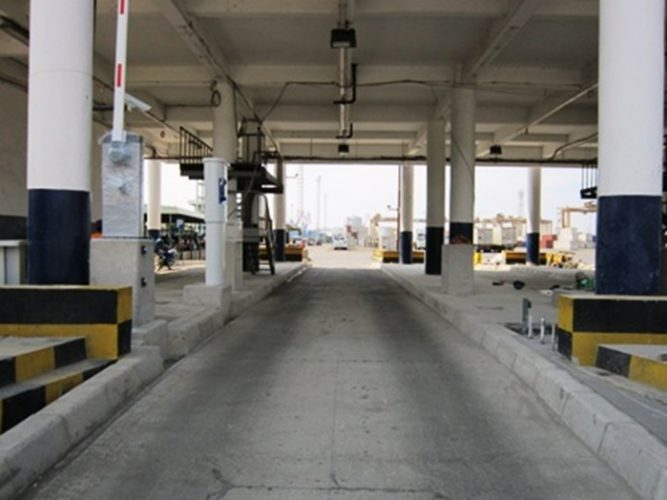 Automatic Gate In Jakarta International Container Terminal (JICT)