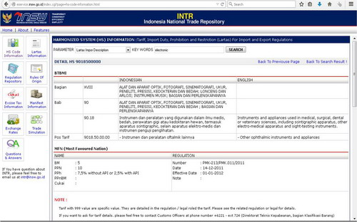 Portal Indonesia National Single Window (INSW)